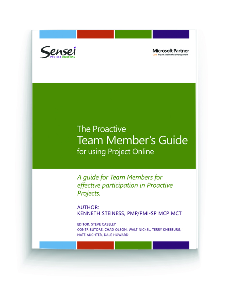 The proactive team members guide to using MS Project