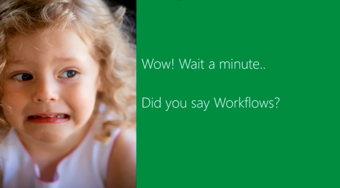 Did you say Workflows?
