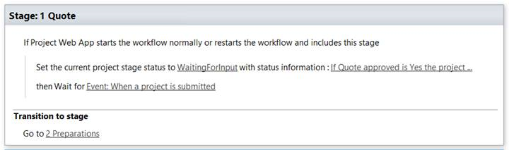 Include this stage Project Server Workflow